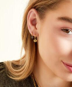 Boucles d'oreilles en acier inoxydable citrouille