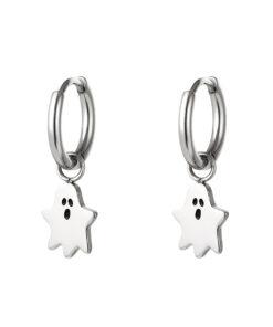 Boucles d'oreilles en acier inoxydable fantôme