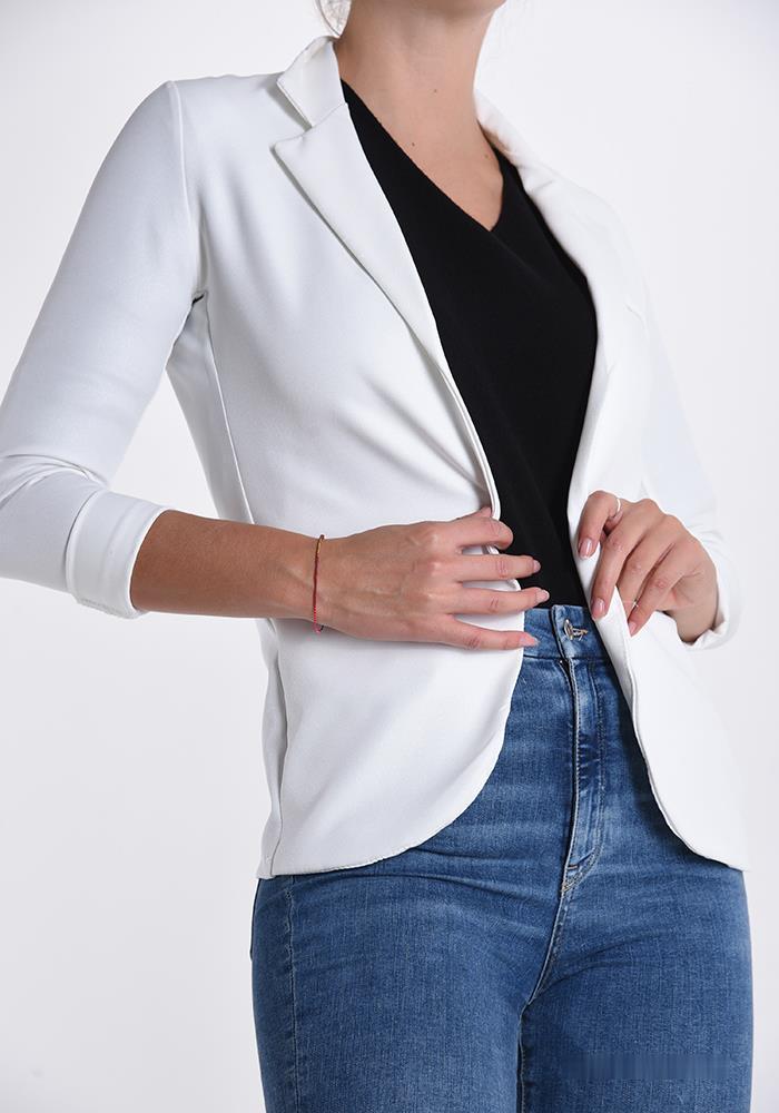 blazer blanc brillant femme