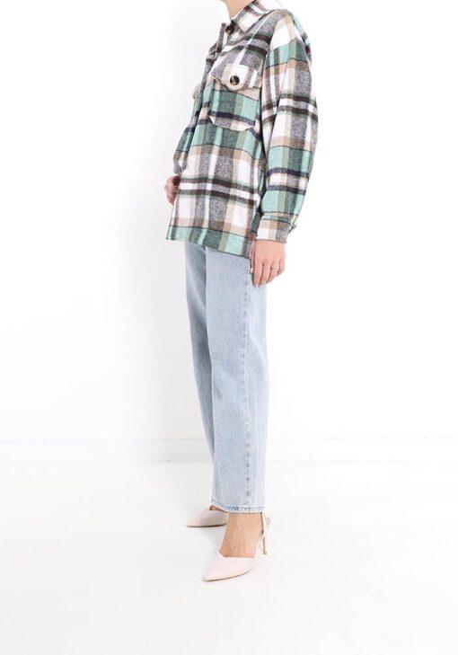 veste en coton motif tartan